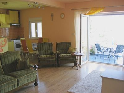 Photo for Two bedroom apartment with balcony and sea view Mastrinka, Čiovo (A-16574-a)