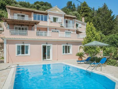 Photo for 4 bedroom Villa, sleeps 7 in Ano Vasilikos with Pool, Air Con and WiFi