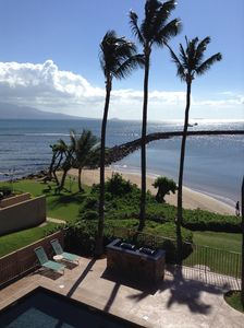 Photo for Enjoy a Spectacular Oceanfront View while relaxing on the lanai