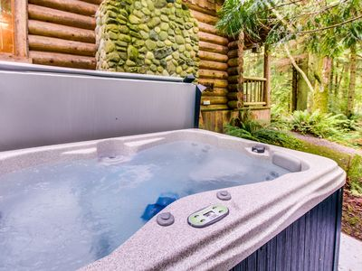 Photo for Dog-friendly cabin w/ private hot tub - perfect for a relaxing escape!