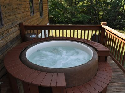 Photo for Soft Tub Hot Tub & Pool. Cozy & convenient to downtown, Biltmore & Interstates.