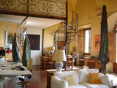 Photo for Luxurious apartment, garden, swimmipool, spectacular views of Florence