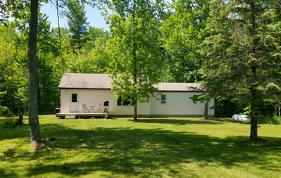 Photo for 2 bed home secluded on a wooden lot, 5 minutes from Mackinaw City! Sleeps 7-10!