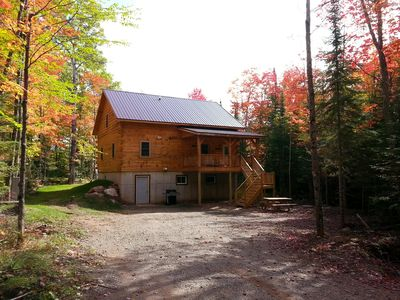 Photo for Authenic Amish built log cabin on 3,300 acre Gile Flowage. All Modern Amenities