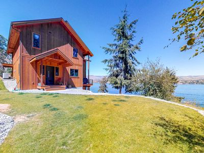 Photo for NEW LISTING! Beautiful home w/lake access, private dock - unparalleled views!