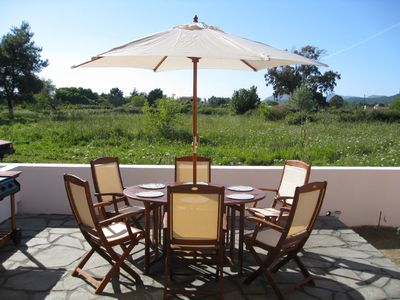 Photo for Stunning self-catering villa, 5 min stroll to the beach with mountain views