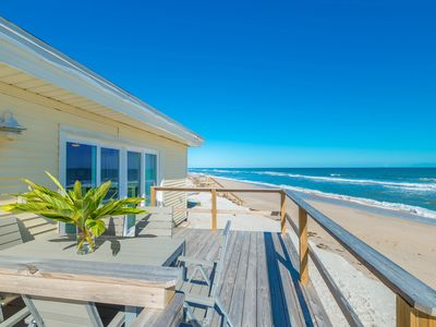 Photo for Adorable Oceanfront Cottage - Step out your back door to the beach!