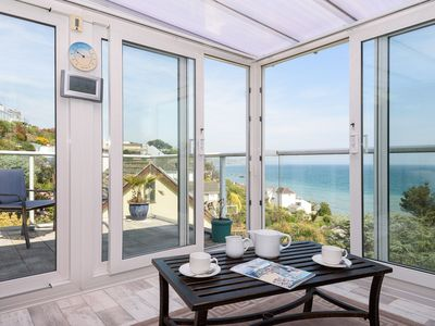 Photo for Fine house with lovely sea views.