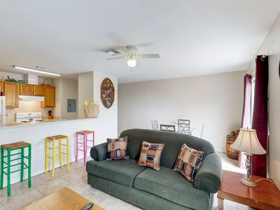 Photo for Dog-friendly condo w/ shared pool & free WiFi - walk to the beach!