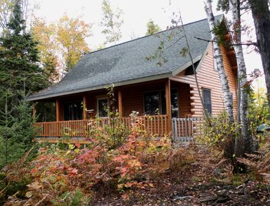 Prong Mountain Cabin - Front porch overlooking waterfront and mountains.