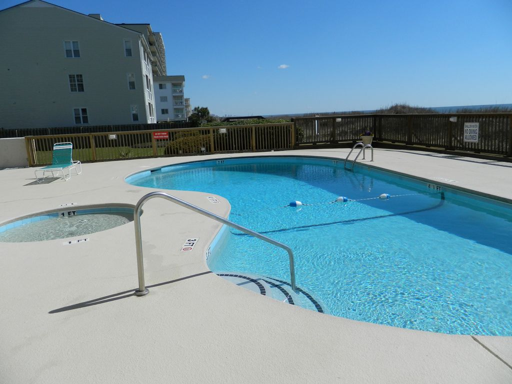 Windy Hill Classic Beach Pool Relax Repeat Blue Horizons From The Balcony North Myrtle