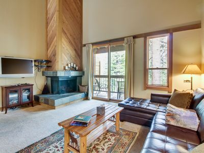 Photo for Comfortable condo w/ shared hot tub & pool - close to skiing & golf!