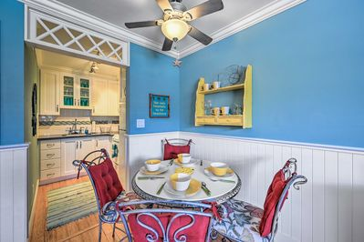 Dine in at this vacation rental's formal dining table.