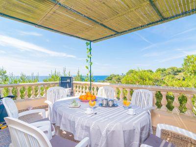 Photo for CASA SALMONIA - Chalet with sea views in Cala S'Almonia.