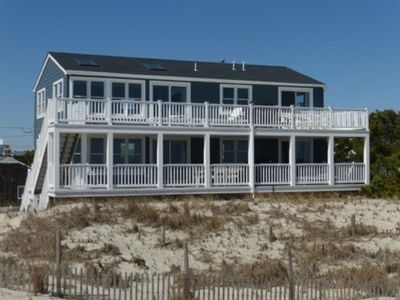 Photo for Newly renovated Ocean front 1st fl duplex. Huge deck much larger than the average oceanfront deck.1st fl 139281