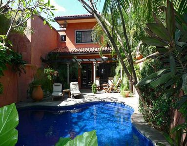 Photo for Private luxury villa- across from beach, private pool, tropical landscaping