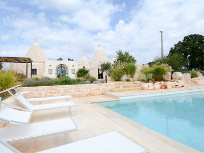 Photo for Trullo with wisteria pool
