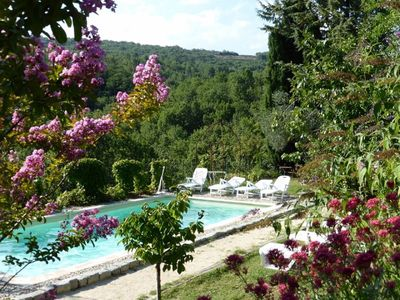 Photo for 2 independent accommodation in large Mas with swimming pool, SPA, terraces and garden