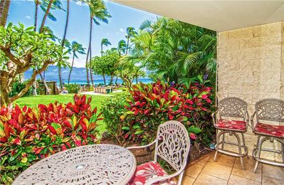 Photo for KAN106 - Maui Beach Front, Ocean View, Ground-Floor Condo—2 BR/2 BA A Great Value