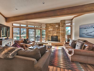 Photo for Pristine Family Mountain Condo - Moments to Slopes, Shuttle, Hot Tub + Amenities