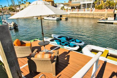 Dock and Paddle Boards, Row Boat, 2 Person Kayak and More All Included!