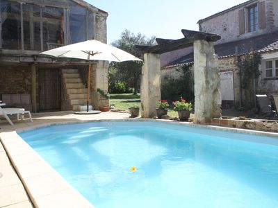 Photo for 5 bedroom gite with private pool in village setting
