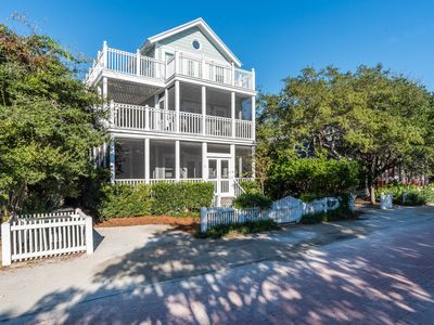 Photo for Seaside, Florida stunner! 3 BR, steps to the beach, Sleeps 10 in beautiful style