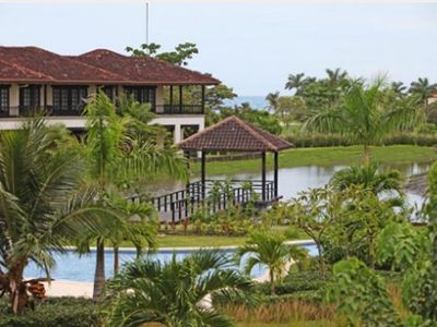 Exterior view of our villa. Closest to the ocean, overlooking the lake and pool!