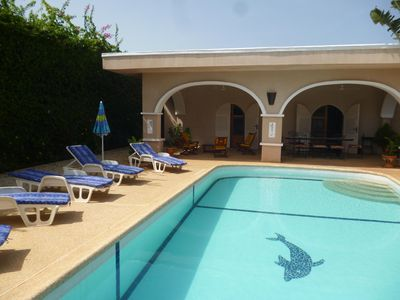 Photo for VILLA CLOSE SEA, LARGE SWIMMING POOL, WITHOUT OPPOSITE, WI-FI, 420 EUROS 7 NIGHTS