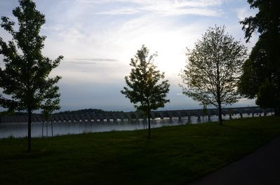 Susquehanna River view at sunset