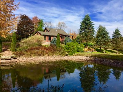 Photo for Turkey Hill - Tranquility with Reservoir views , pond, Fire Place - close to ski