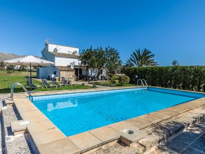 Photo for Charming 2 Bedroom Villa with Private Pool, Lovely Mountain Views, only 2 Km from Puerto Pollensa !