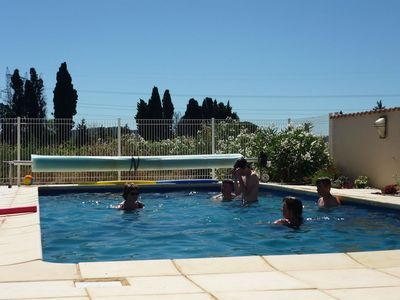 Photo for Beautiful stone gite with pool, next to the Canal du Mid