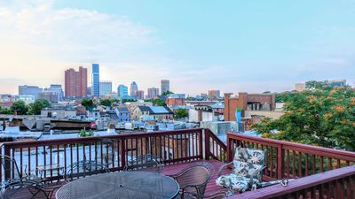 Come relax and enjoy the city's great skyline from our rooftop deck!