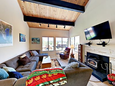 Photo for Light-Filled Truckee House - Mountain Views, Steps to Tahoe Donner Ski Area