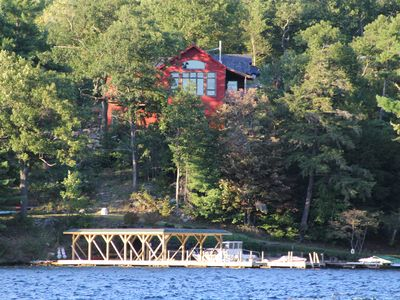 Photo for Lake George custom home 75 feet from the lakes edge!