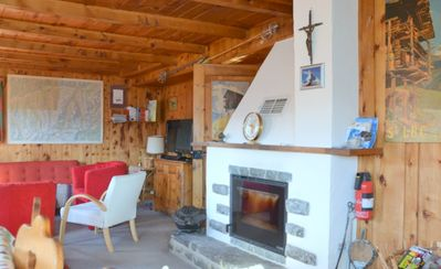 Photo for Outside: three-storey chalet above Saint-Luc, for 7 persons, terrace and balcony with garden furnitu