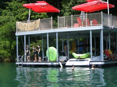 Photo for Norris Lake Cabin with Double Decker Dock on Private Cove