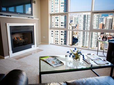 Photo for 51st Floor MagMile Penthouse - VIEWS, Fireplace, Balcony, Pool, WiFi
