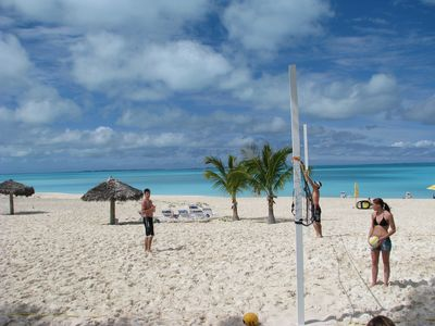 Volleyball at the Coco Beach Bar just down the beach from Ocean Villas