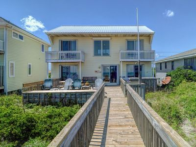 Photo for SEA~DUCTION: 3 BR / 2 BA oceanfront in Topsail Beach, Sleeps 6