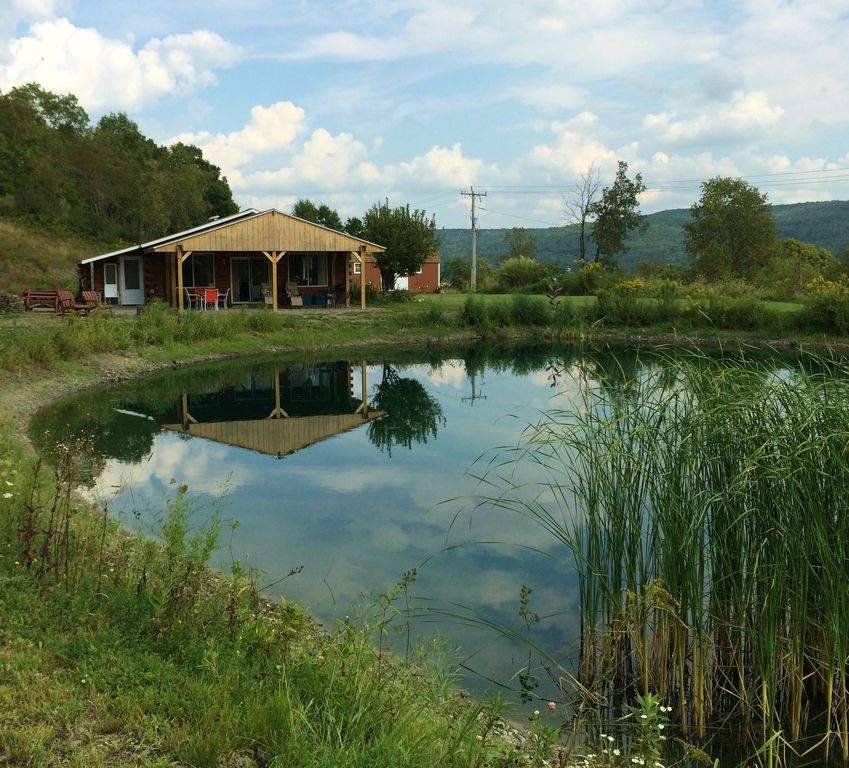 House Cabin Look On 5 Ac Private Pond S Of Ithaca