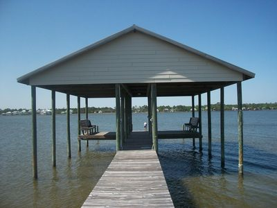 Private boat dock for boats, wave runners, fishing, crabbing, and so much more!