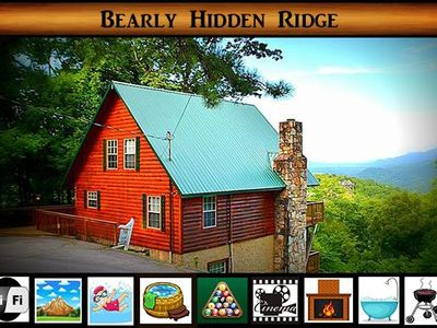 Bearly Hidden Ridge} Mountain Views \ Theater Room\ Hot Tub \ Pool Access