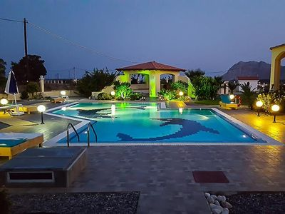 Photo for 4 bedroom Villa, sleeps 8 in Kolýmpia with Pool, Air Con and WiFi