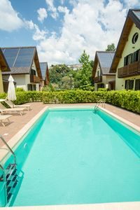 Photo for 5 chalets with private pool. Pets welcome