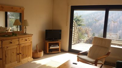 Photo for Apartment forest view with terrace and wonderful view of the mountains