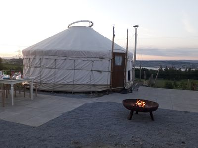 Photo for Yurt with pool on the farm above Lake Zurich