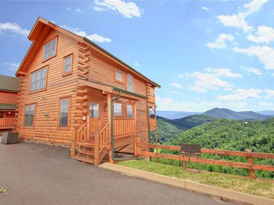 Photo for Cabin in the Clouds | Amazing Mountain View | High Above Wears Valley near Pigeon Forge & Dollywood