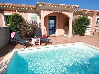 Photo for Air-conditioned apartment with pool and panoramic sea view in St Florent